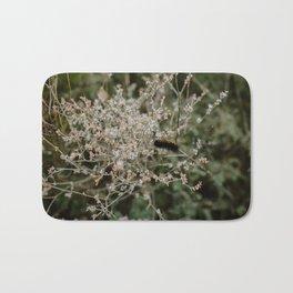 Wooly Bear Caterpillar on Plants - Big Bend Bath Mat