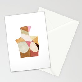 The Woman Patchwork Watercolor Print Stationery Cards