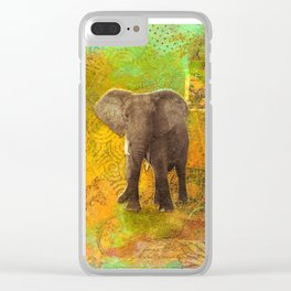 The Elephant in my Dream Clear iPhone Case