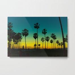 venice california at dusk Metal Print