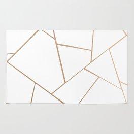 Rose Gold White Geometric Glam #1 #geo #decor #art #society6 Rug