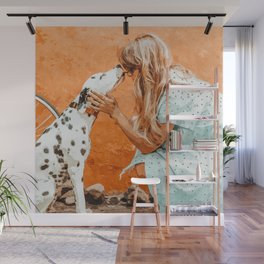 Pet Bound #pets #animals #animalslover #painting Wall Mural