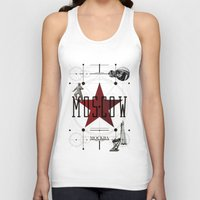 moscow Tank Tops featuring Moscow Mockba by Virbia