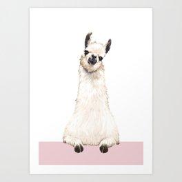 hi! Llama Art Print
