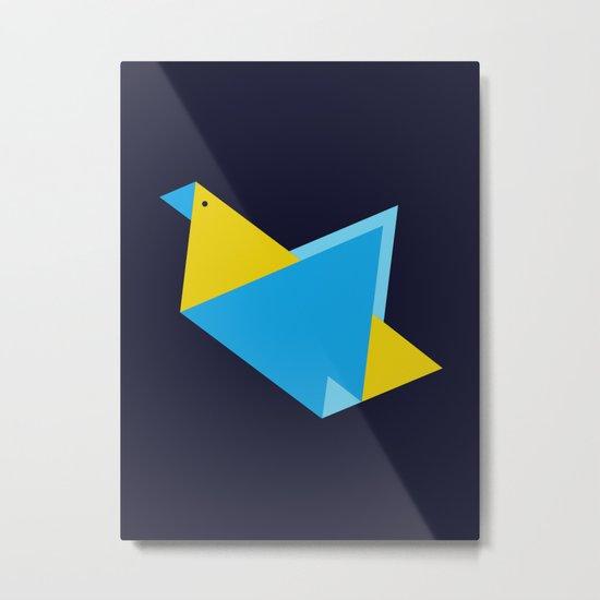 Triangle Bird Metal Print