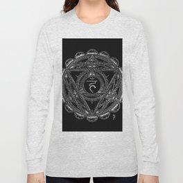 Black and White Throat Chakra Long Sleeve T-shirt