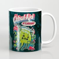 book Mugs featuring CTHUL-AID by BeastWreck