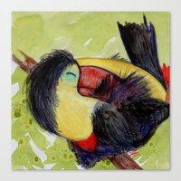toucan Canvas Prints featuring Toucan by Pendientera