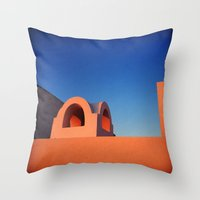 greek Throw Pillows featuring Greek Architecture by DiFer83