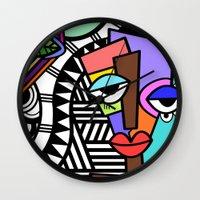 artsy Wall Clocks featuring Artsy by Andrea Silvestri