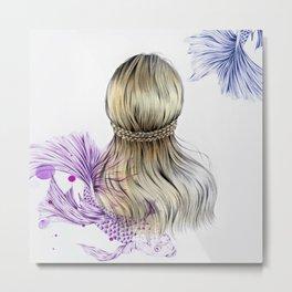 Hair I Metal Print