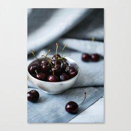 Bowl of Sweet Cherries Canvas Print
