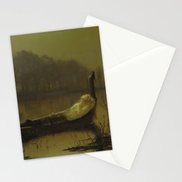 The Lady of Shalott by John Atkinson Grimshaw Stationery Cards