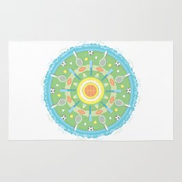 play outdoors mandala Rug