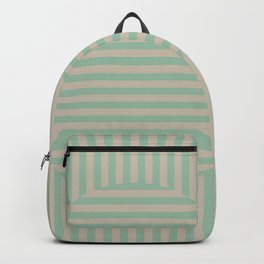 Fabulous Lewitt IV - Jade & Gray Backpack