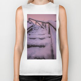 Snow covered Stairway to Heaven Biker Tank