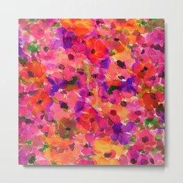 Fleur Rouge Metal Print