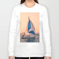 racing Long Sleeve T-shirts featuring  Yacht racing by Svetlana Korneliuk