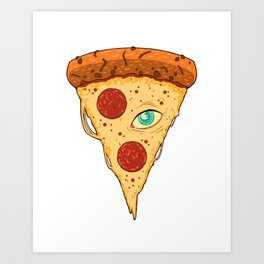 Pizza Eye Art Print