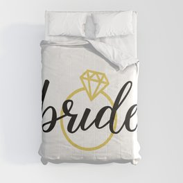 Bride with Diamond Ring (Gold) Comforters