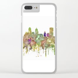 Buffalo, New York Skyline SG - Faded Glory Clear iPhone Case
