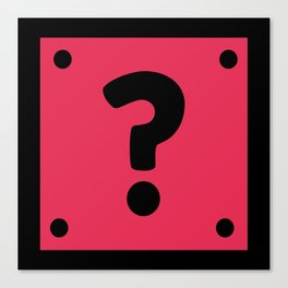 Video Game Mystery Box Canvas Print