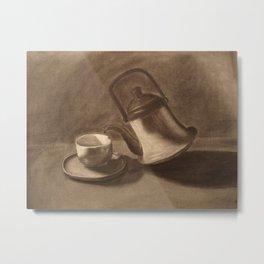 Teapot Still Life Metal Print