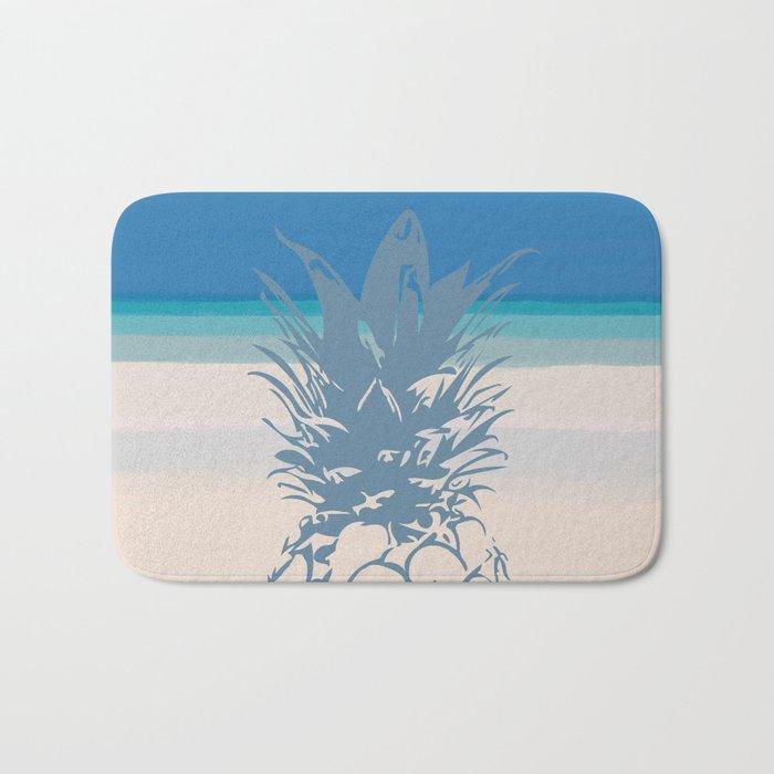 Pineapple Tropical Beach Design Bath Mat
