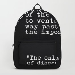 Arthur C. Clarke quote Backpack