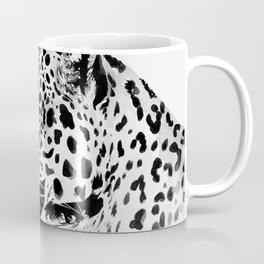 Watercolor Leopard (Black and White) Coffee Mug