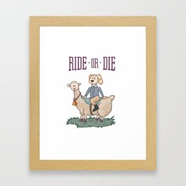 Ride or Die - Dog Framed Art Print