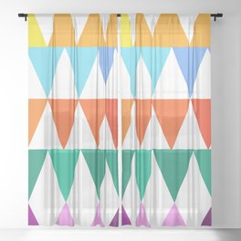 Triangles of Color Sheer Curtain