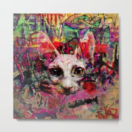 The Graffiti Cat Metal Print