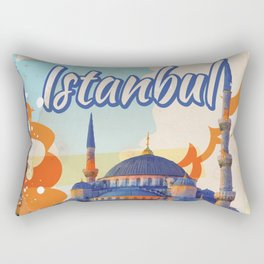 Istanbul Aya Sophia Mosque vintage travel poster Rectangular Pillow