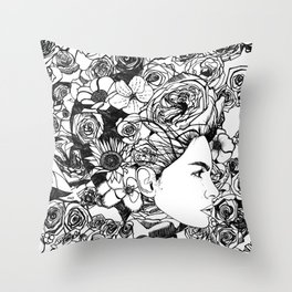 "PHOENIX AND THE FLOWER GIRL ""REFLECTION"" SINGLE PRINT Throw Pillow"