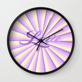 Abstract Geometric stripes with Unicorn Colors design Wall Clock