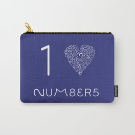 I heart Numbers Carry-All Pouch