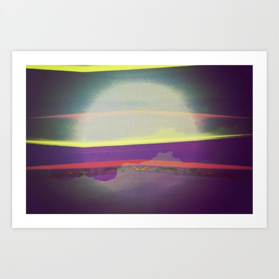 Signs in the Sky Collection - Falling Moon Art Print