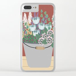 Flowers in a Bucket Clear iPhone Case