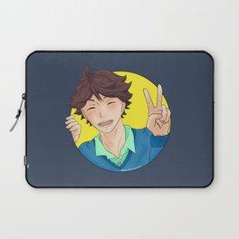 Oikawa Tooru - Haikyuu!! - circle peace sign Laptop Sleeve