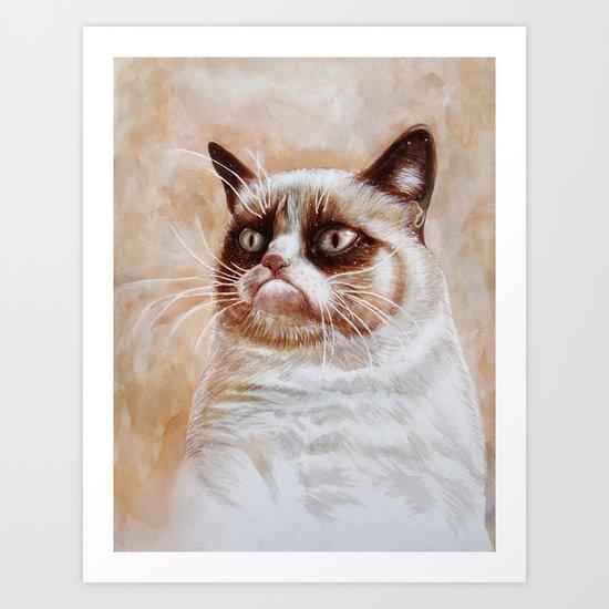 Grumpycat Art Print