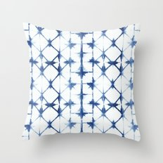 Shibori Diamonds Throw Pillow