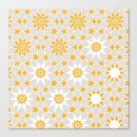 pivot Canvas Prints featuring Pivot Star Pattern  by Pivot Interiors
