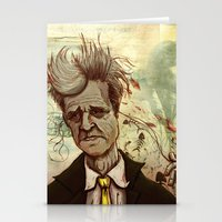 david lynch Stationery Cards featuring Lynch by Davel F. Hamue