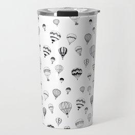 Hand-drawn 'Hot Air Balloon' design Travel Mug