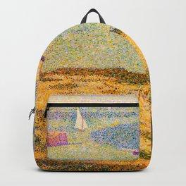 Port-en-Bessin Entrance to the Outer Harbor Georges Seurat - 1888 Impressionism Modern Populism Oil Backpack