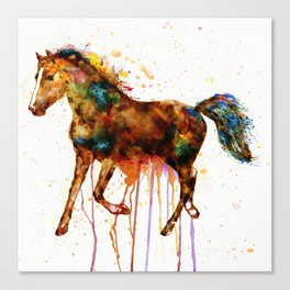 Watercolor Horse Canvas Print