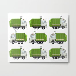 Garbage Truck Metal Print