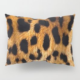 Vegan Leopard Skin Animal Fur Design Pillow Sham