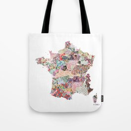 France map Tote Bag